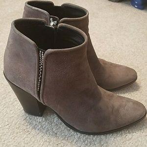 giuseppe zanotti suede gray booties